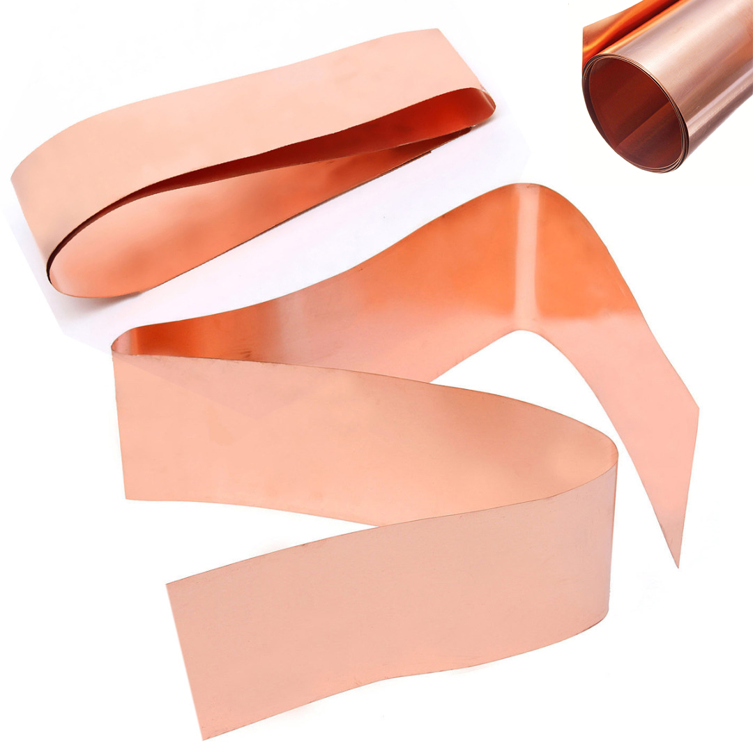 1pc 0.2x100x1000mm Copper Sheet Plate Strong Cu Metal Foil Sheet Roll High Purity tungsten sheet plate for scientific research and experiment high purity