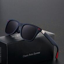 Polarized Sunglasses Mirror Driver Shades Spuare Vintage Male Women Brand Design DJXFZLO