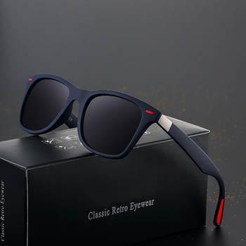 DJXFZLO Brand Design Polarized Sunglasses Men Women Driver Shades Male Vintage Sun Glasses Men Spuare Mirror Summer UV400OculoS
