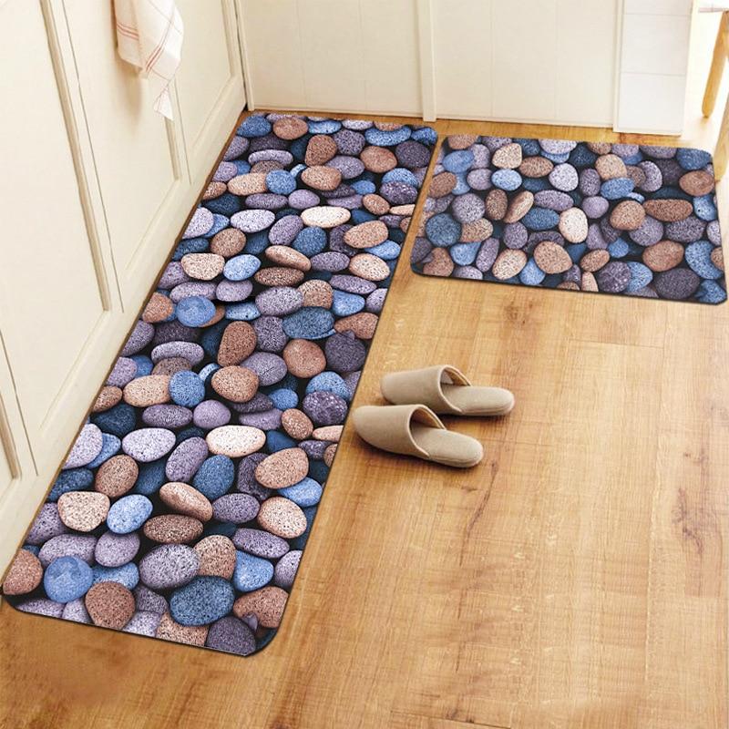 Entry doormat river stone doormat cobblestone indoor for River stone doormat