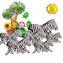 jungle animals birthday party helium balloon toys for baby kids supplies inflatable animal shaped zebra