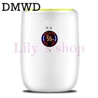DMWD elétrico Portátil Mini desumidificador Absorção de Umidade Secador de Ar LED display Auto-off Desumidificadores Purificador de Ar 110 V 220 V