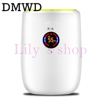 DMWD 100 240V Portable Mini Ultra Quiet Home Intelligent Moisture Absorb Dehumidifier Touch LED Dehumidifier Air