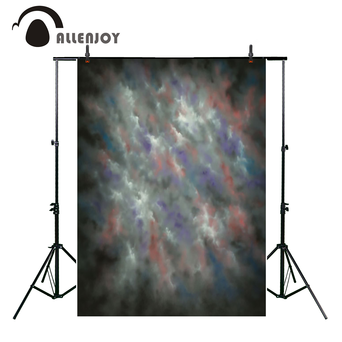 Allenjoy gray clouds haze blended old master photography background vintage dyed Computer Print portrait backdrop photo studio