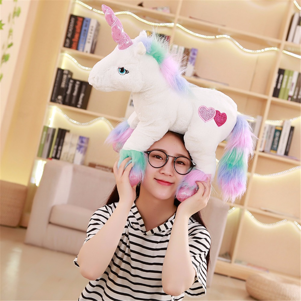 1pc 50cm unicorn plush toy unicorn doll cute animal stuffed unicornio soft pillow baby kids toy for girl birthday christmas gift nooer lovely unicorn plush dolls cute soft uncorn stuffed plush toy unicornio kids toy birthday christmas gift for kids child