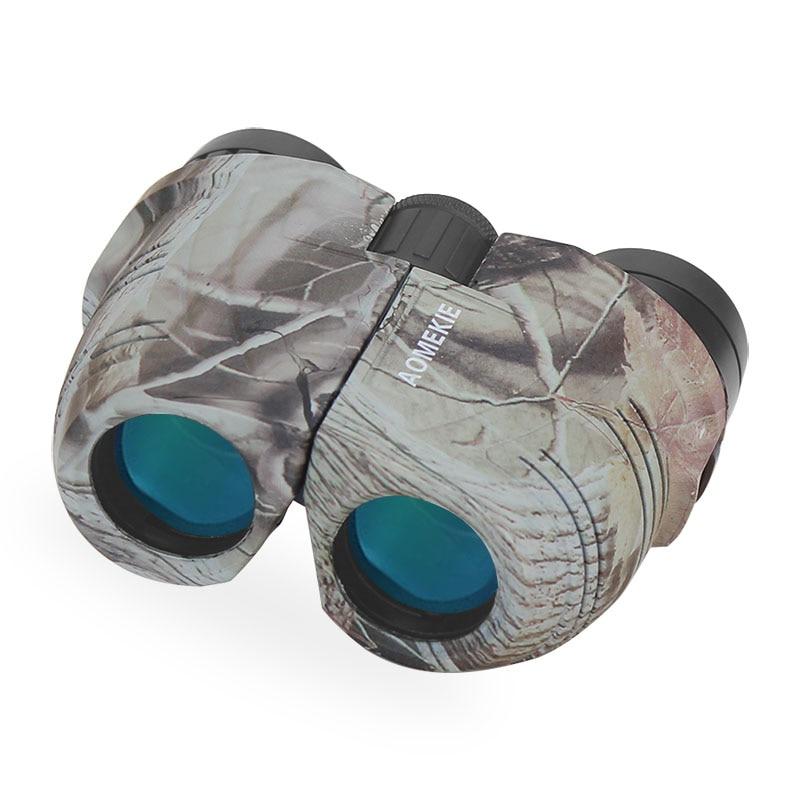 Compact Porro Prism 12X25 Binoculars Cool Camo Hunting Telescope High Power Optical Glass Multi-coated Lens Bird Watching Gift бинокль cl zj 01 cl zj 01 lightweight compact folding 21 roof prism binoculars