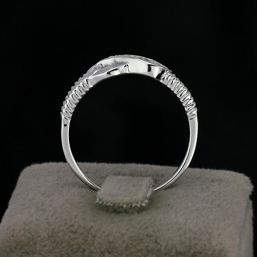 Eternity Ring Engagement Rings Sterling Silver 925 Rings կանանց - Նորաձև զարդեր - Լուսանկար 5