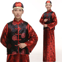 2016 Polyester Rushed Promotion Disfraces Ancient Chinese Costume Dance Costumes Costum Traditional Tang Suit For Men