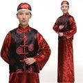 2016 Precipitaron La Promoción de Poliéster Costum Disfraces Chino Antiguo Traje de La Danza Tradicional juego de La Espiga De Los Hombres