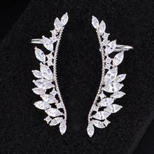 купить SisCathy Luxury Cubic Zirconia Big Stud Statement Earrings Fashion Jewelry boucle d'oreille femme Earrings Jewelry Accessories по цене 671.5 рублей