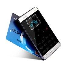 Aiek m3 карты мобильного телефона 6.5 мм ультра тонкий карманный мини телефон Dual Band FM MP3 GPRS Низкий Уровень Излучения Bluetooth Один Год Гарантии