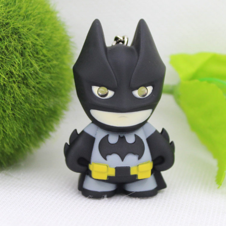 1pcs Newest Bat Man font b Toys b font Movie Anime Avengers Batman LED Keychains Light