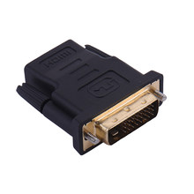 DVI 24+1 Male To HDMI Female Converter Gold Plated HDMI Cable Adapter 1080P For HDTV LCD DVI-D Extending DVI Cable Adapter(China)