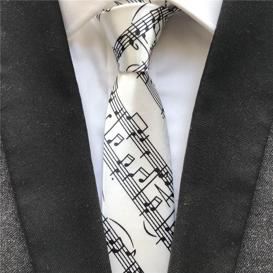 Mellow Melody Tie Blue Silk Necktie Mens Music Neck Tie