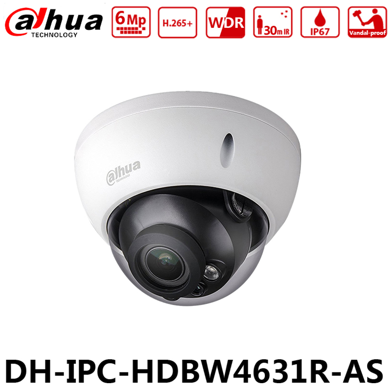 4 PcsLot Dahua IPC-HDBW4631R-AS 6MP IP PoE Camera IK10 IP67 IR30M SD Card Replace IPC-HDBW4433R-AS