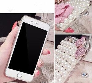 Роскошный чехол для Iphone 11 Pro Max X XS MAX XR 6 6S 7 8 Plus (жемчуг с бантом)