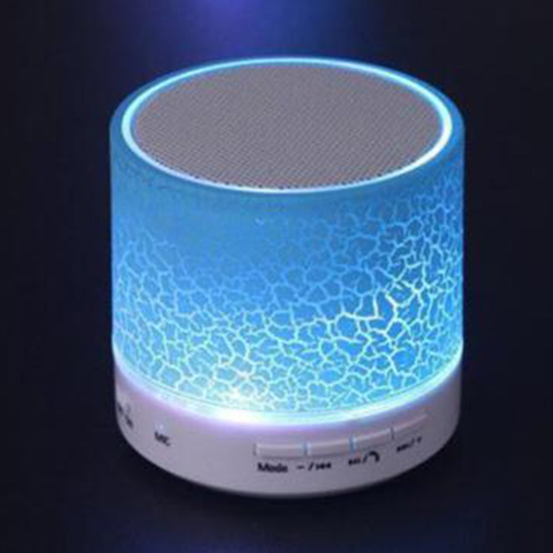Wireless Bluetooth Mini Speaker Stereo for iPhone Samsung Phone Tablet PC LED Purple White Pink Green