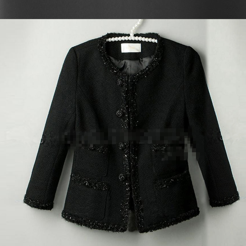 tweed jacket Picture - More Detailed Picture about Black tweed ...