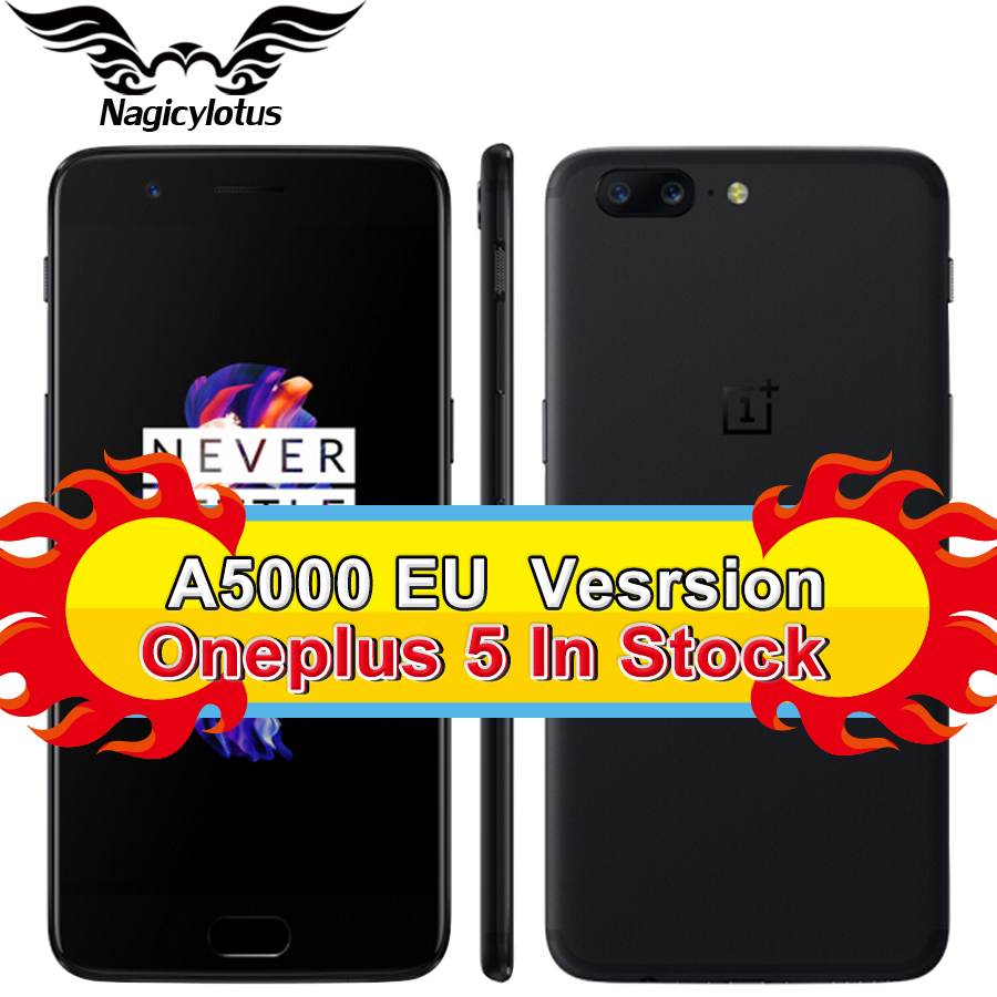 EU Version OnePlus 5 Smartphone 5.5''4G LTE Snapdragon 835 Octa Core 6GB 64GB 20.0MP 16 MP Global 4G Android 7.0 NFC Fingerprint