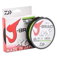 Daiwa 100% оригинальная J-BRAID X8 150 м 8 плетеная леска из мононити 10-60 фунтов, сделано в Японии