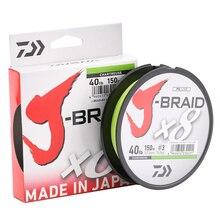 DAIWA 100% Original J BRAID X8 150M 8 สายถัก Braided สายตกปลา Monofilament 10 60LB Made in Japan Pesca