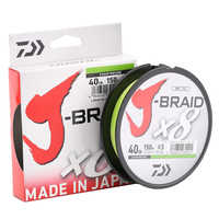 Daiwa 100% Original J-BRAID X8 150M 8 Braided Fishing Line Monofilament Fishing Line 10-60LB Made in Japan Pesca