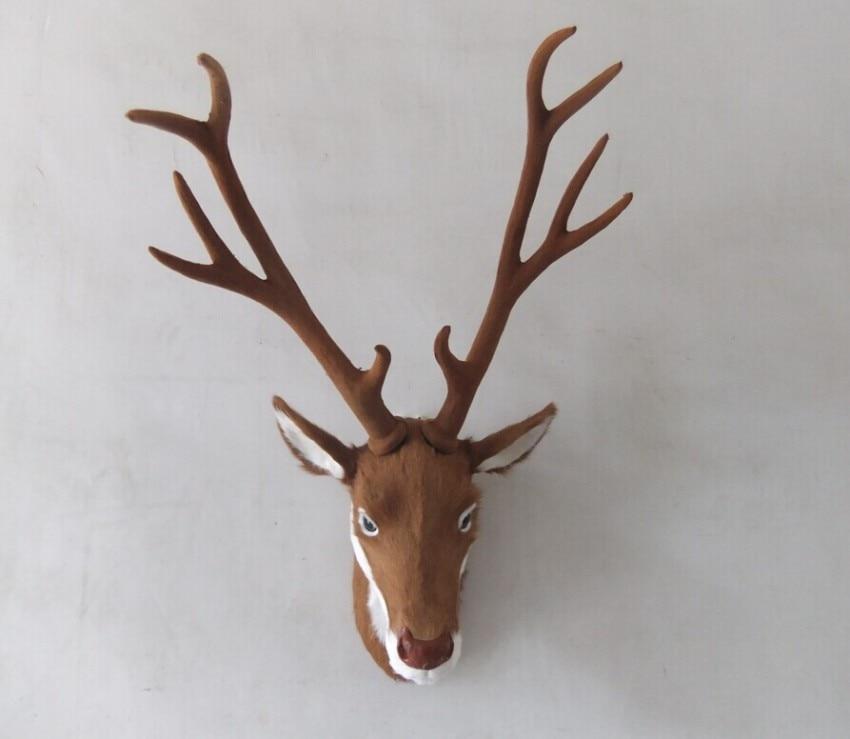 big simulation sika deer head model polyethylene&furs real fur deer head wall pandent gift about 33x25x70cm 0043big simulation sika deer head model polyethylene&furs real fur deer head wall pandent gift about 33x25x70cm 0043