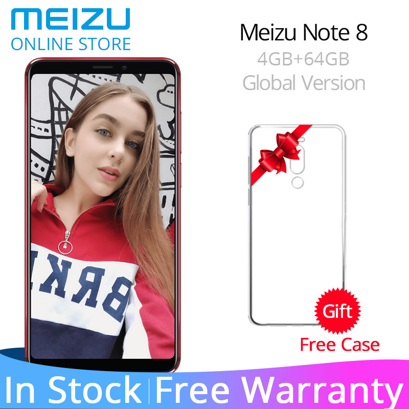 Global Version Meizu Note 8 4GB RAM 64GB ROM Note8 Cellphone Snapdragon 632 Octa Core 5.99-inch 2160X1080P EU Charger 3600mAh(China)