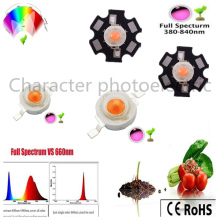 1w 3w 5w full spectrum led grow light chip 380 - 840nm, best for indoor plant