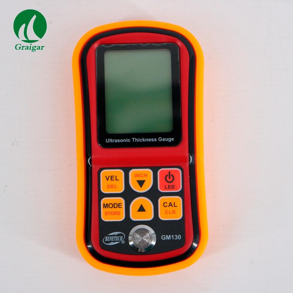 GM130 ручной ультразвуковой Толщина Датчик Диапазон измерений: 1,00 ~ 300 мм (сталь)