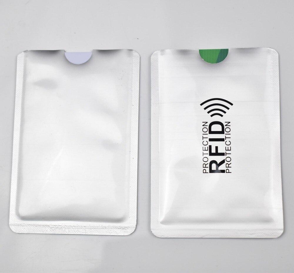 Russian 100pcs RFID Blocking Sleeves Anti Theft RFID Card Protector Anti-Scan Card Sleeve