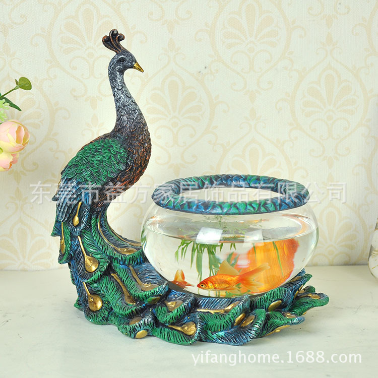 Aliexpress.com : Buy Europe Home Peacock planted tank ...