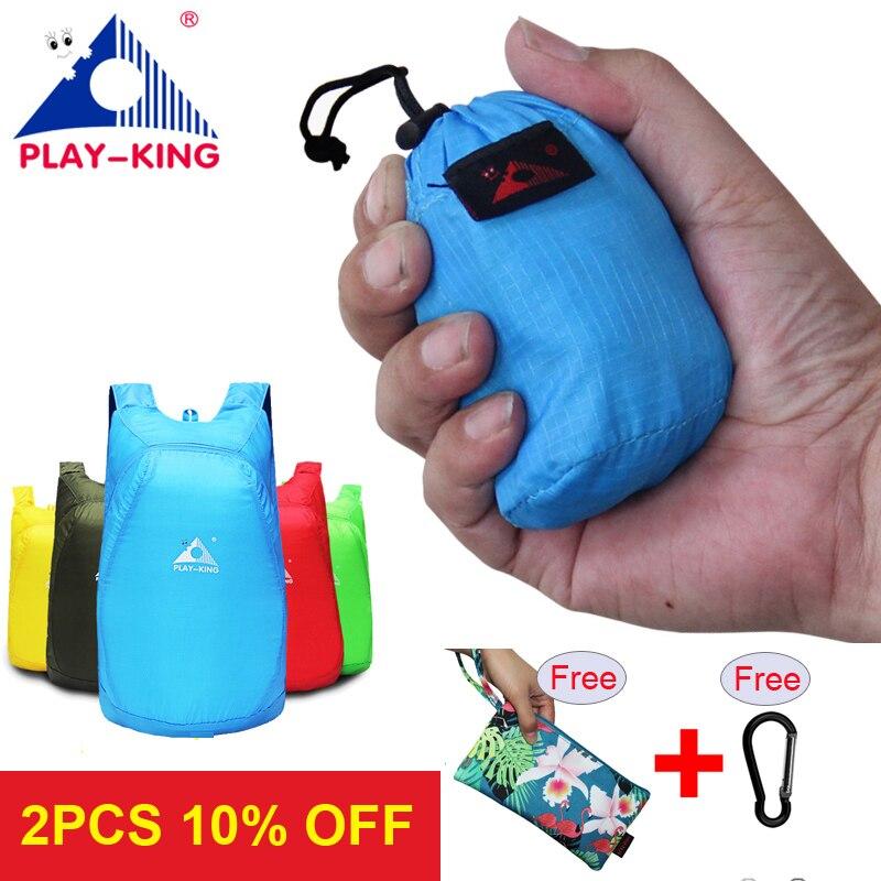 ABSPIELENKING Leichte Nylon Faltbare Rucksack Wasserdichte Rucksack Klapp tasche Ultraleicht Outdoor-Pack für Frauen Männer Reise Wandern