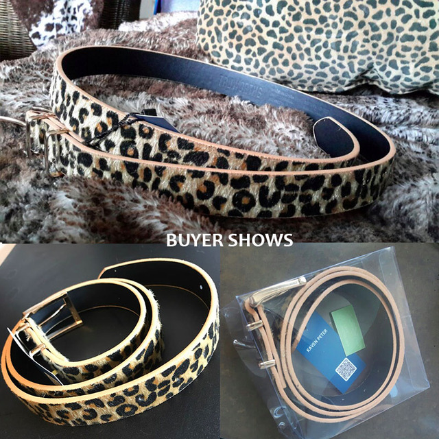 Female Belt Cummerbund Women Horsehair Belt With Leopard Pattern Rose Gold Metal Buckle Women Pu Belt Free Shipping 4