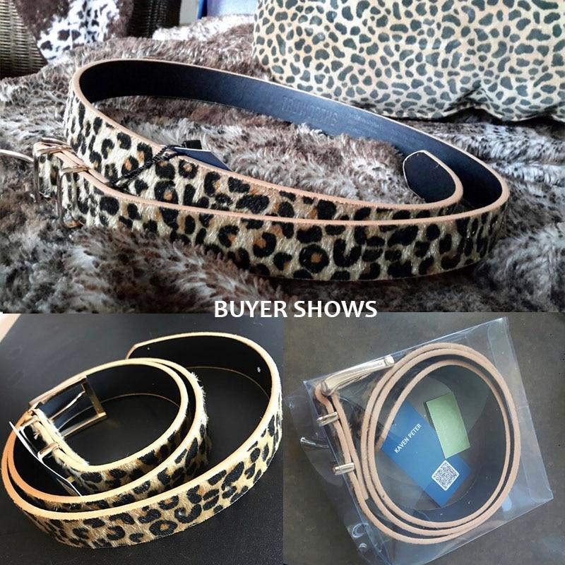 Horsehair Belt With Leopard Pattern Belt 8