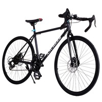 2017 Brand new road bike Black bicycle 700C Aluminum Alloy Frame 21 Speed Road/Commuter Bike Double Disc Brake Bicycle Black