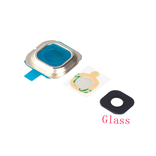 New <font><b>Glass</b></font> Bezel Rear Back Camera Lens Cover With Sticker Adhesive For <font><b>Samsung</b></font> <font><b>Galaxy</b></font> <font><b>S6</b></font> Edge G925 G925F <font><b>Replacement</b></font> image