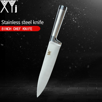 XYj Seamless Welding Kitchen Knife Fully Stainless Steel Knives Straight Handle Cooking Tools One Of 3.5, 5, 7, 8, 8, 8 inch