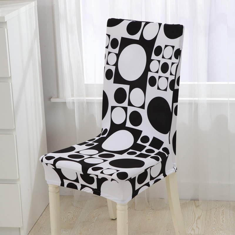 Turetrip Stretch Seat Cover Removable Washable Short Dining Chair Cover Protector Seat Slipcover Restaurant Banquet Home Decor