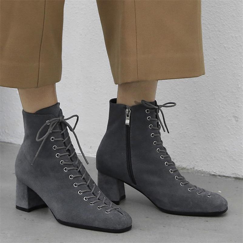 De Chaussures Pompes Vache Bottes Fedonas gris Suède Femmes Qualité Bureau attaché Noir Martin Cheville Moto Top Marque Corss Talons Femme Hauts dBCErxeQoW