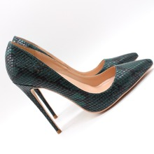 Free shipping fashion women Pumps lady green snake python print Pointy toe high heels shoes size33-43 12cm 10cm 8cm Stiletto fashion sweet women 10cm high heels pumps female sexy pointed toe black red stiletto high heels lady pink green shoes ds a0295