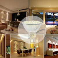3/4/5W LED Light Bulb GU10 3528 SMD 60/72/80 Leds Spotlight Lamp for Home Office Studio Exhibition CLH@8