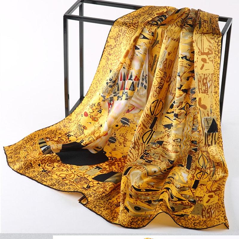 DANKEYISI New Silk Scarf Van Gogh's Famo