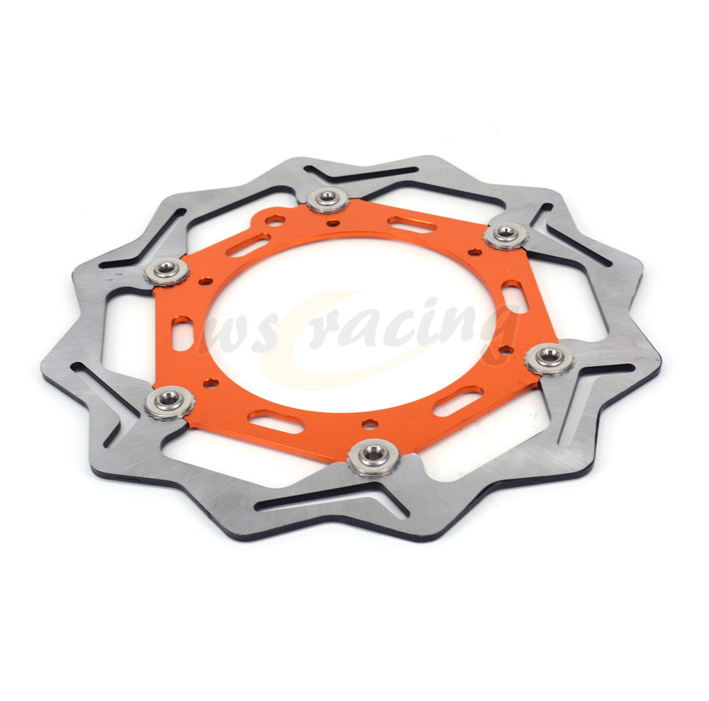 270MM Motorcycle 3 Color Front Wavy Floating Brake Disc Rotor For KTM 125 200 250 300 350 400 640 EXCF SXF XCW EXC SX DUKE free shipping aluminium wave motorcycle accessories front brake disc rotor disk for ktm 125 200 390 duke 2013 2014