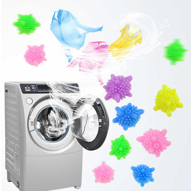 1 pcs Random color Washing machine Wrinkle Remover Releasing Dryer Balls Laundry Dryer Fabric Softening wash Ball