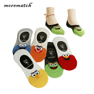 Morematch Silicone Non-slip Invisible Women Sock Spring Summer Cartoon Cotton Socks No Show Ankle Socks 5 Colors Optional