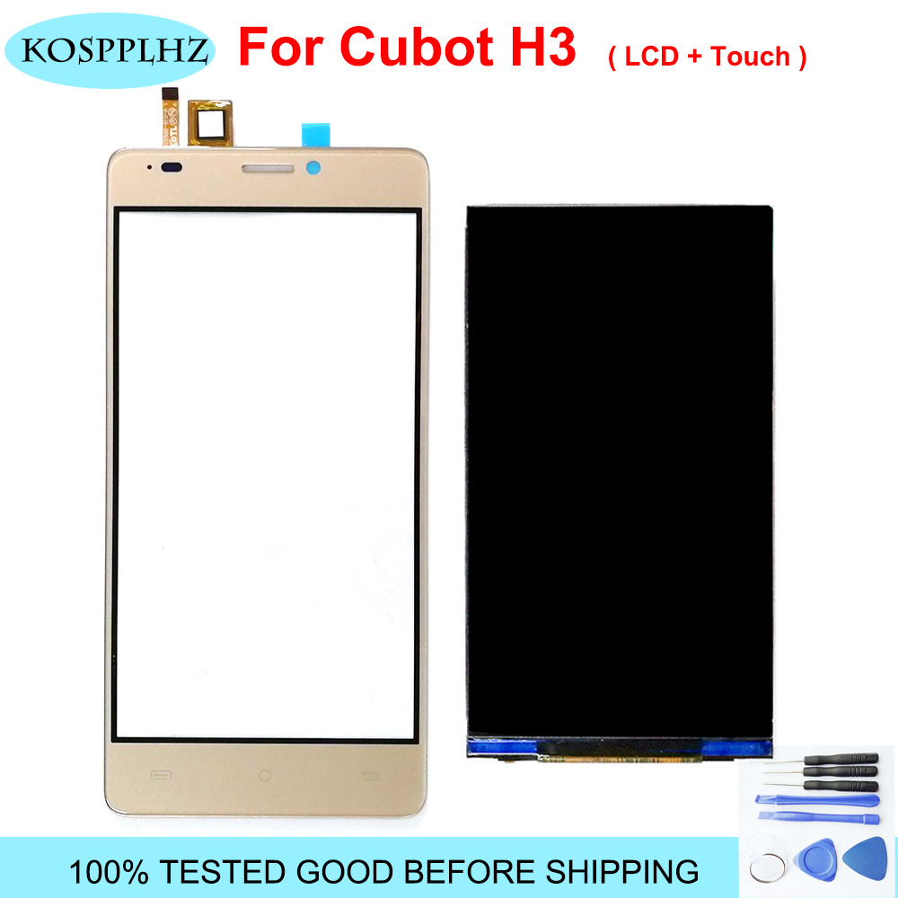 5.0 Inch New For Cubot H3 LCD Display Touch Screen Digitizer Assembly Replacement For Cubot H3 Android 7.0 Cell Phone + Tools