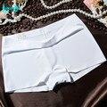 Barato caliente de la venta nuevo de las mujeres de calidad marcas bragas cortocircuitos de los boxeadores de moda sexy señorita seamless ice seda girls underwear underpant