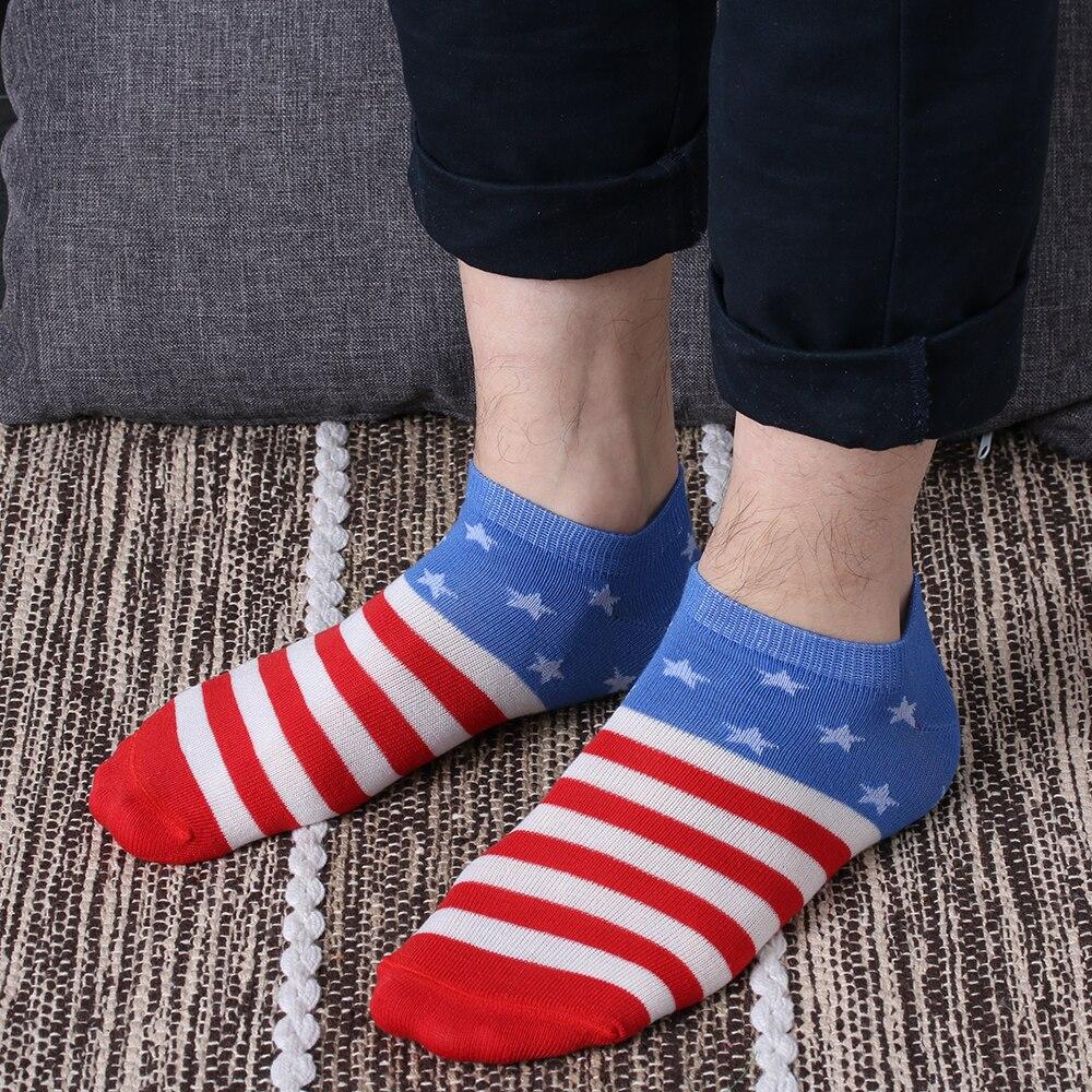 1 Пара Мужская Новый Унисекс Женские мужские Носки Короткие Лодыжки Лодка Low Cut Носки Бразилия Американский Флаг Носки