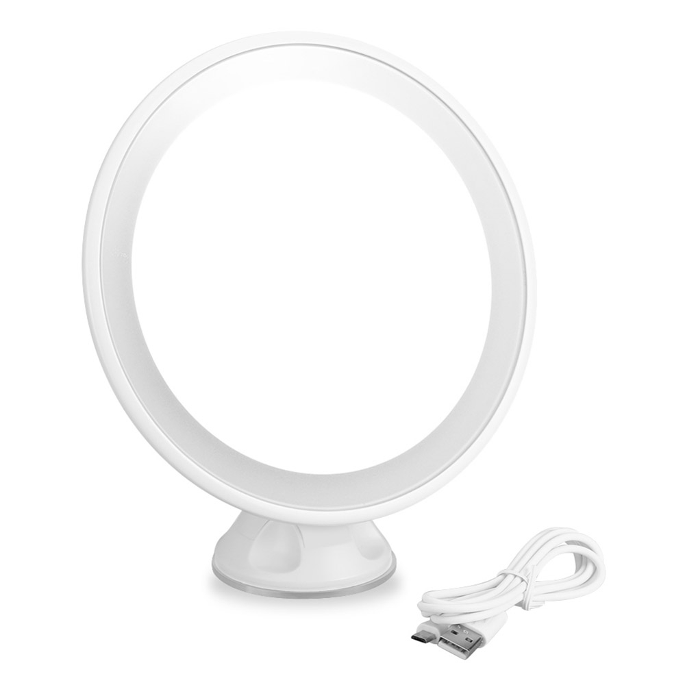 7X Magnification LED Rechargeable Bathroom Vanity Mirror 360 degree ...